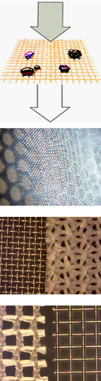 Examples of surface filtration