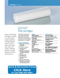 LOFTOP Filter Cartridge Catalog Pages