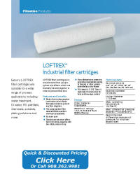 LOFTREX Filter Cartridge Catalog Pages
