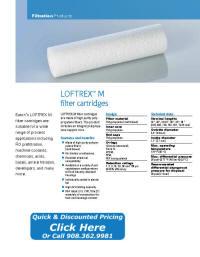 LOFTREX-M filter cartridge catalog pages