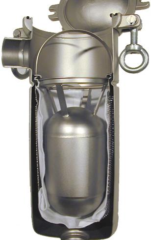 filter bag displacement balloon