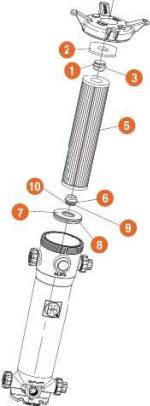 Single cartridge adapter for plastic cartridge filters