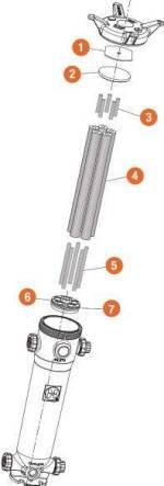 multiple cartridge adapter for plastic bag filters